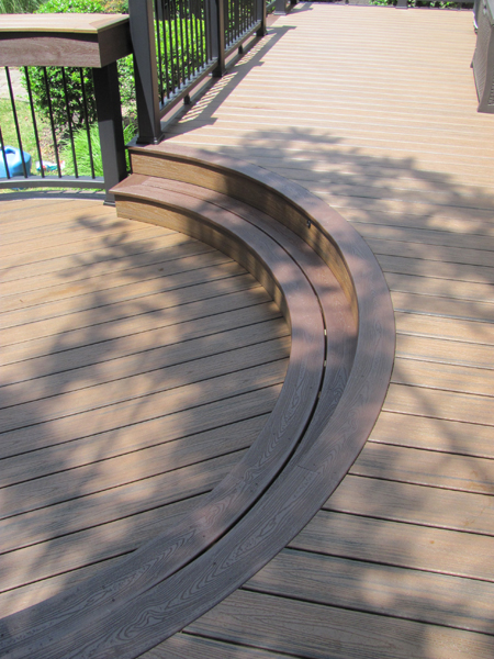 Round Deck with Steps Idea- Amazing Deck
