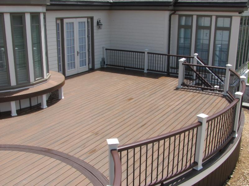 Round Deck with Railing Builder- Amazing Deck