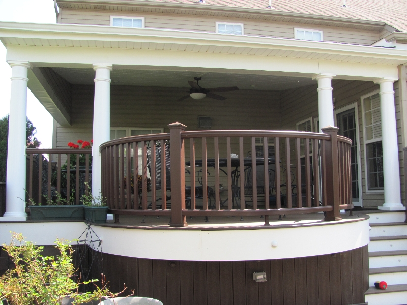 Curved Deck with Roof Design- Amazing Deck