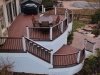 Curved Trex Deck with Stairs- Amazing Deck