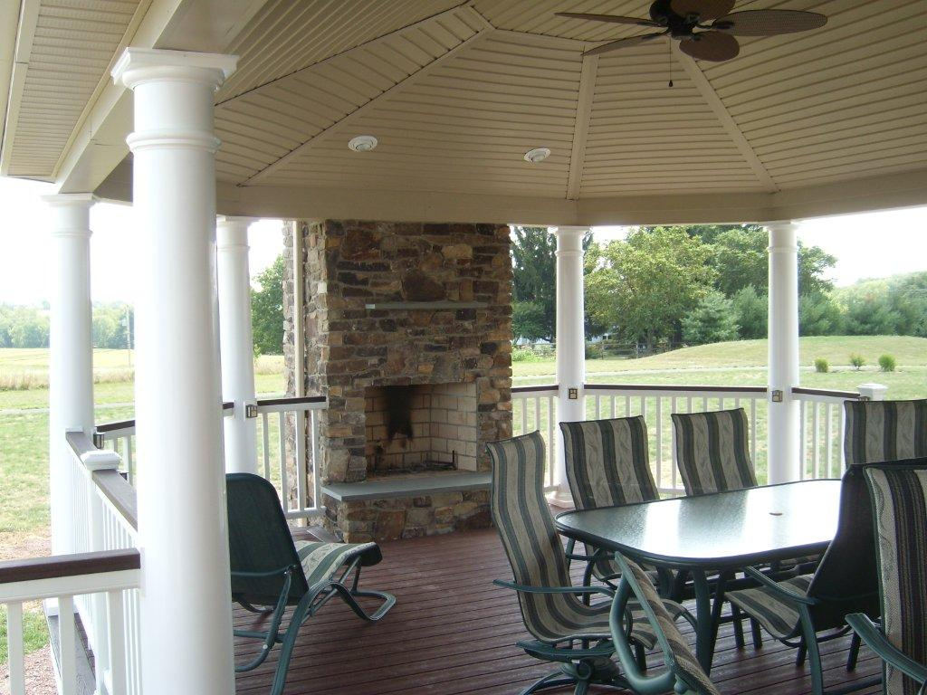 Deck with Roof- Fireplace Decks- Amazing Deck