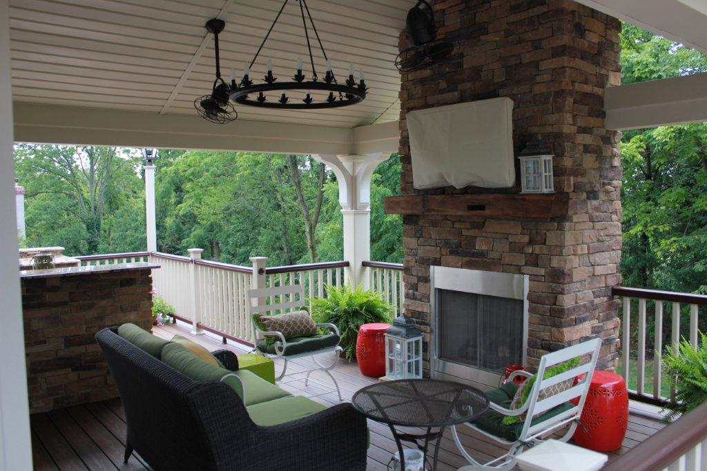 Fireplace Decks- Custom Deck Design- Amazing Deck