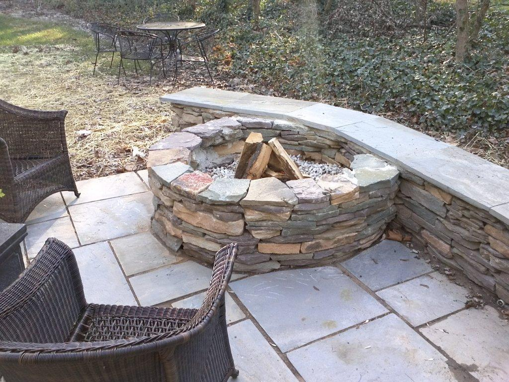 Outdoor Patio Designs by Fireplace- Amazing Deck