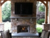 Outdoor Fireplace Deck Design- Amazing Deck