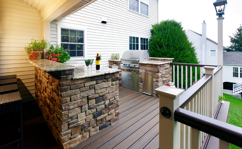 Custom Deck with Outdoor Kitchen- Amazing Deck