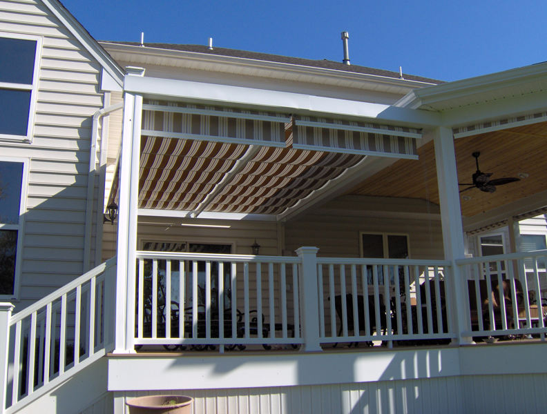 Covered Deck with Pergola- Amazing Deck
