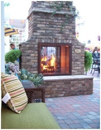 Hearth Fireplace Design for Patios and Deck- Patio Builder- Amazing Deck