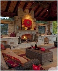 Unique Outdoor Fireplace Designs- Deck Fireplaces- Amazing Deck