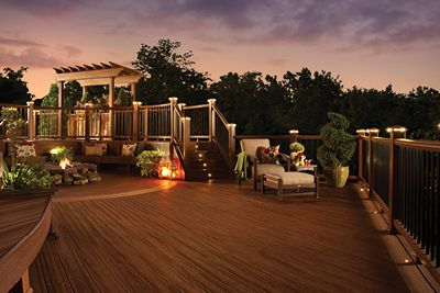 Deck lighting for trex decking- deck lighting ideas and designs- Amazing Deck